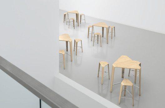 hoc zaubert in Lounges, Wartebereichen, Cafeterien, Kantinen und Räumen für informelle Gespräche eine lässige Atmosphäre. (Bild: Brunner GmbH)