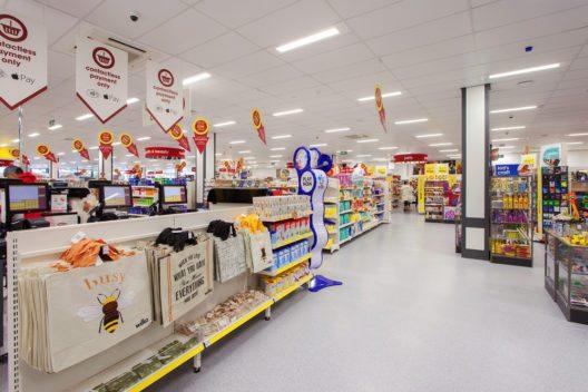 Durch die innovative LED-Beleuchtung erzielt Wilko eine Reduzierung der Energiekosten von bis zu 70 Prozent.