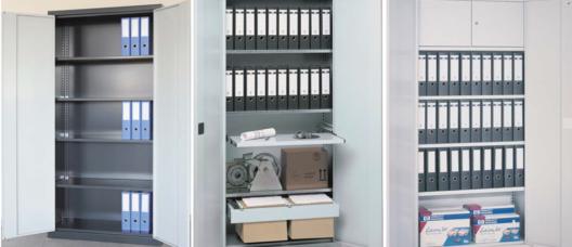 Der Büro-Stahlschrank SBS sorgt für Ordnung und Übersicht im Büro. (Bildquelle: Primus Transportgeräte AG)