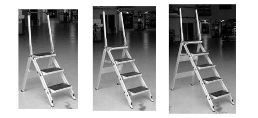 Klapptreppe Little Jumbo erlaubt sicheres Arbeiten in der Höhe (Bildquelle: Primus Transportgeräte AG)